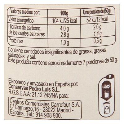 Tomate triturado - Informations nutritionnelles - es