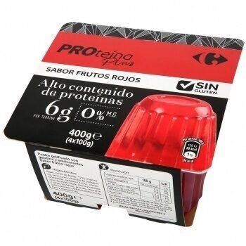 Gelatina proteica plus frutos rojos 00% - Producto - es