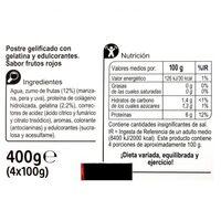 Gelatina proteica plus frutos rojos 00% - Información nutricional - es