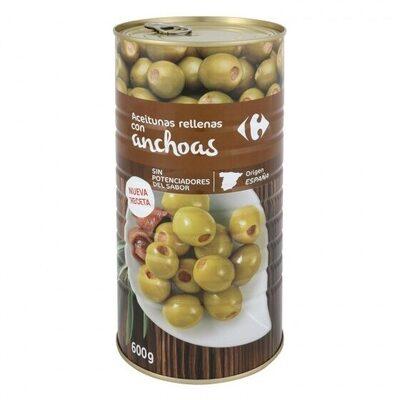 Aceituna manzanilla anchoa s/pote - Producte - es