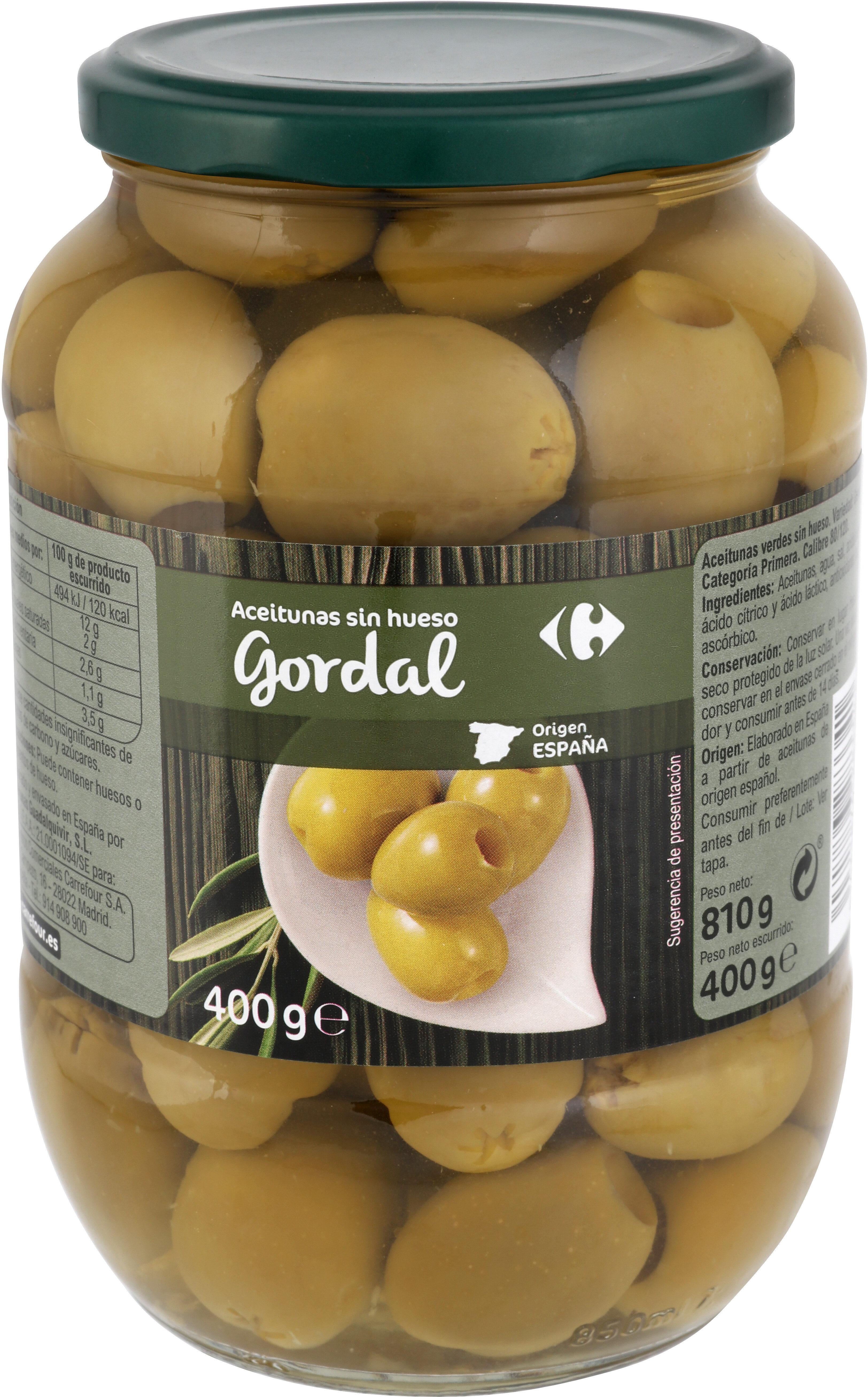 Aceitunas Gordal Sin Hueso Frasco - Producte - es