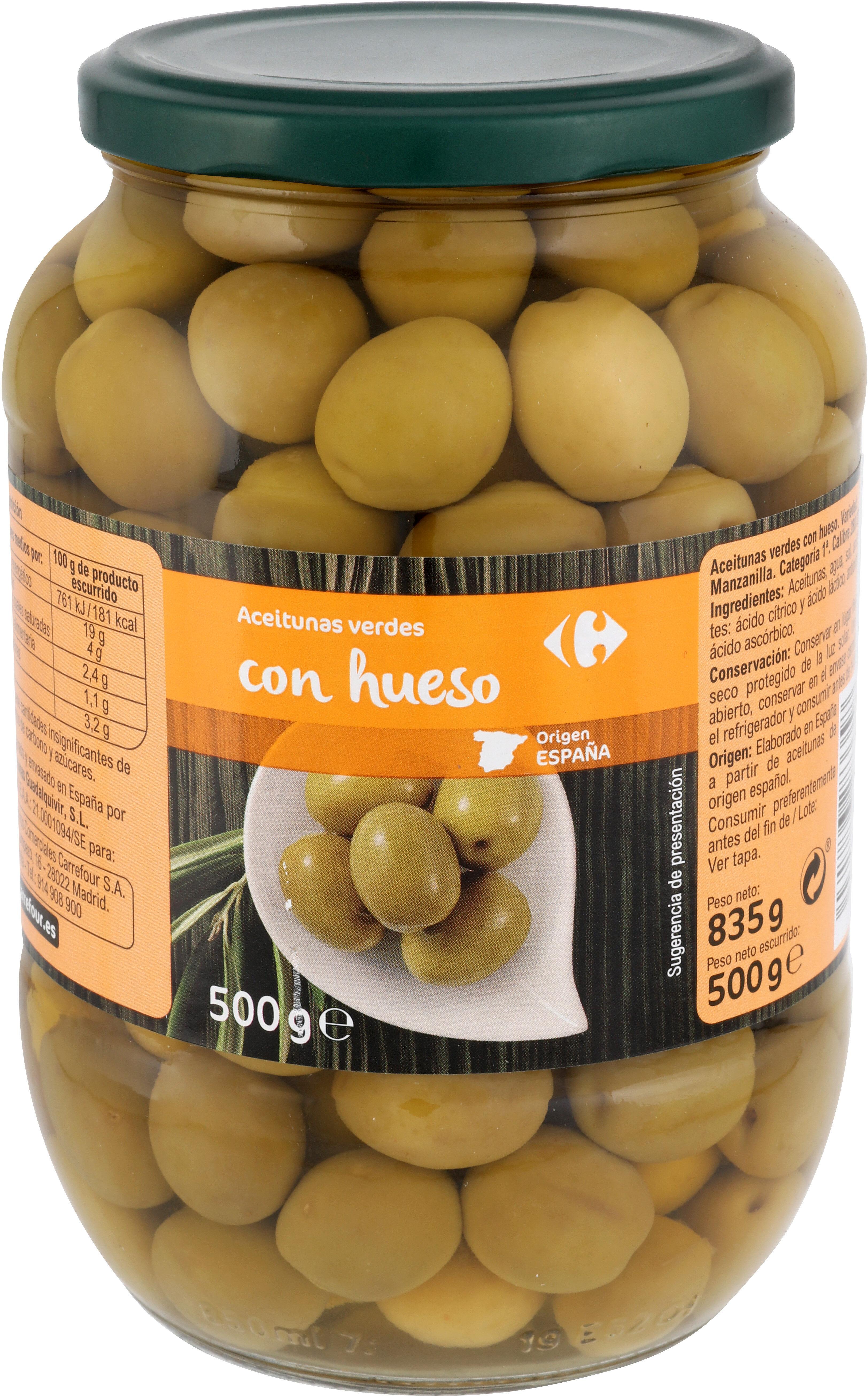 Aceitunas Manzanilla C/Hueso Verde - Producte - es