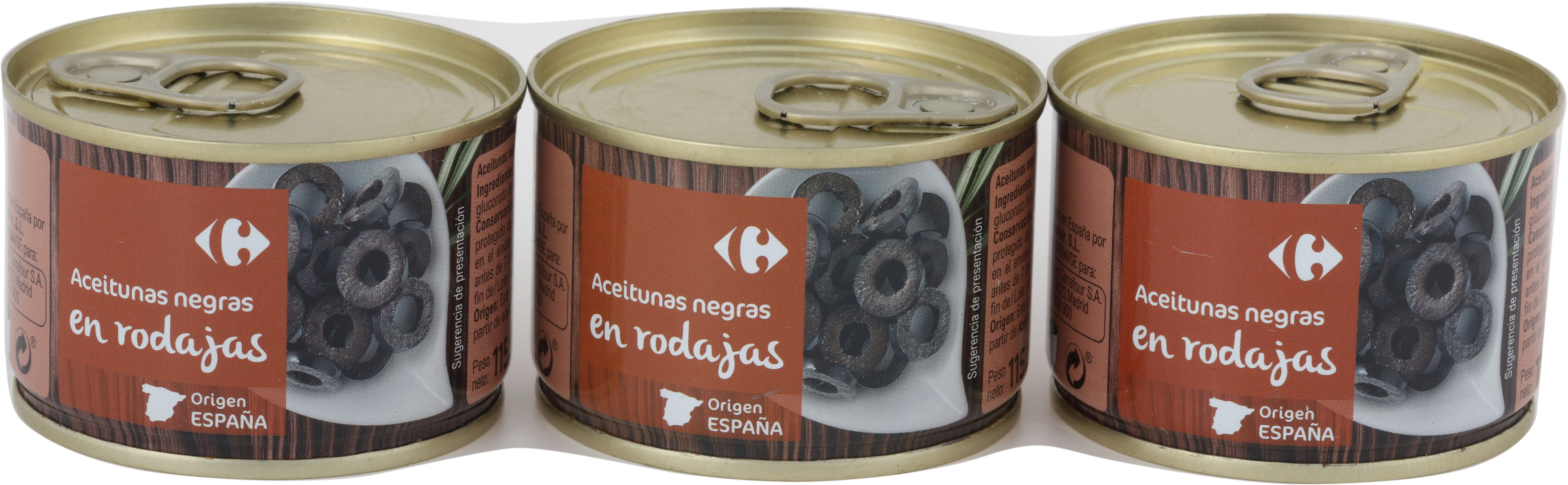 Aceitunas Neg.Cac. Rodajas Lata - Producte - es