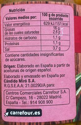 Aceitunas Manz.Gazp. Aliñ - Nutrition facts - es