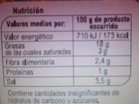 Aceitunas Manz.Part.Aliñada Est.Chupadedos - Informació nutricional - es