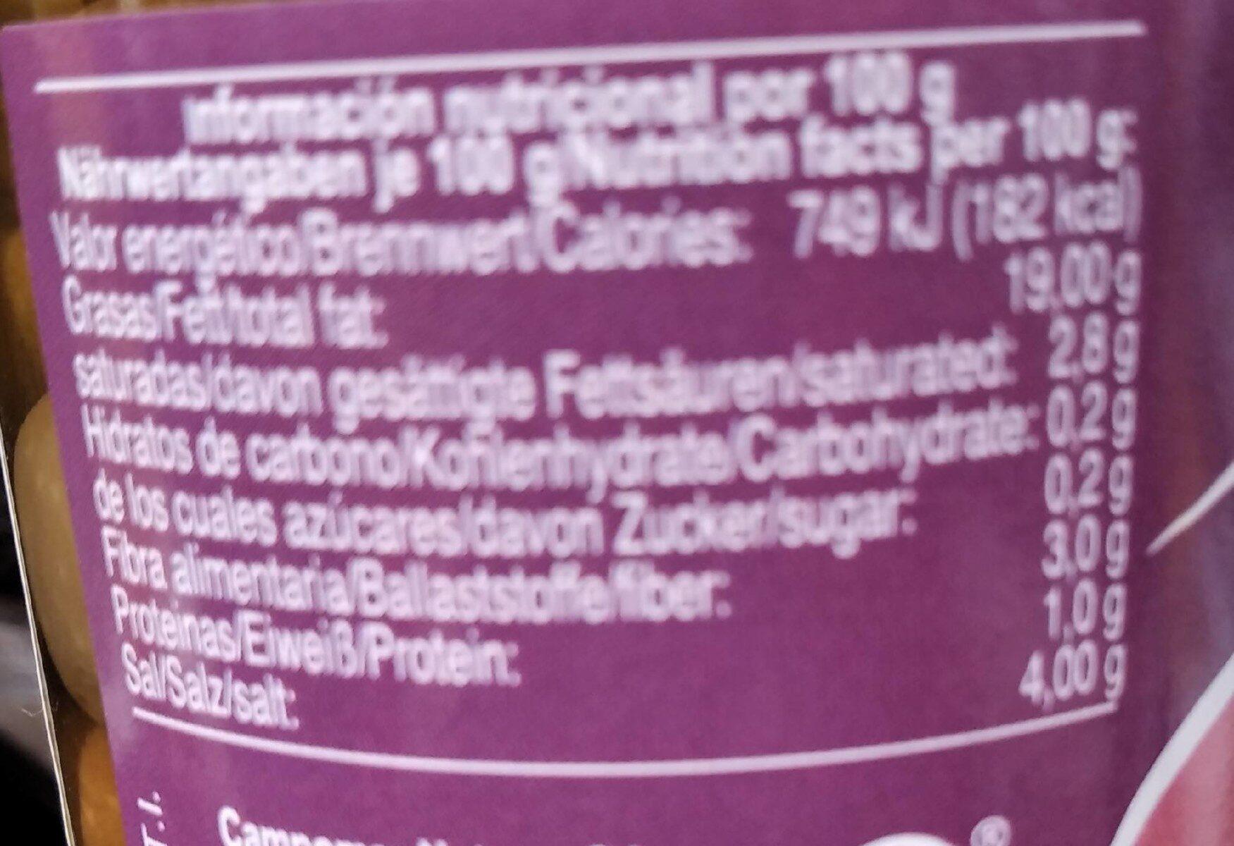 Aceituna De Manzanilla Deshuesada - Informació nutricional - es