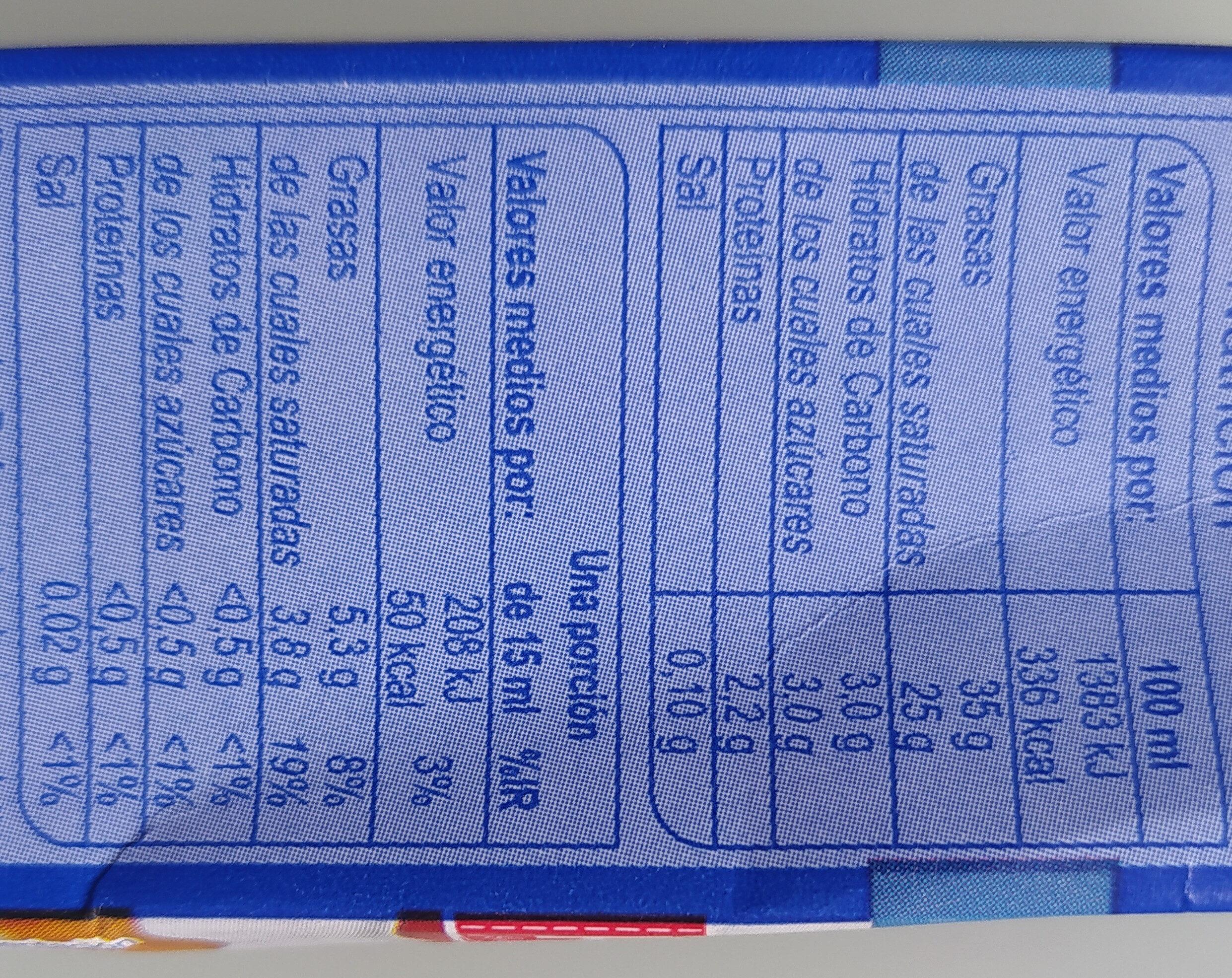 Nata Montar - Nutrition facts - es