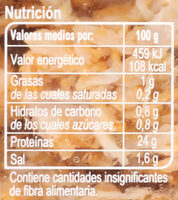 Tiras De Pollo Pechuga De Pollo Al Horno - Informations nutritionnelles - es