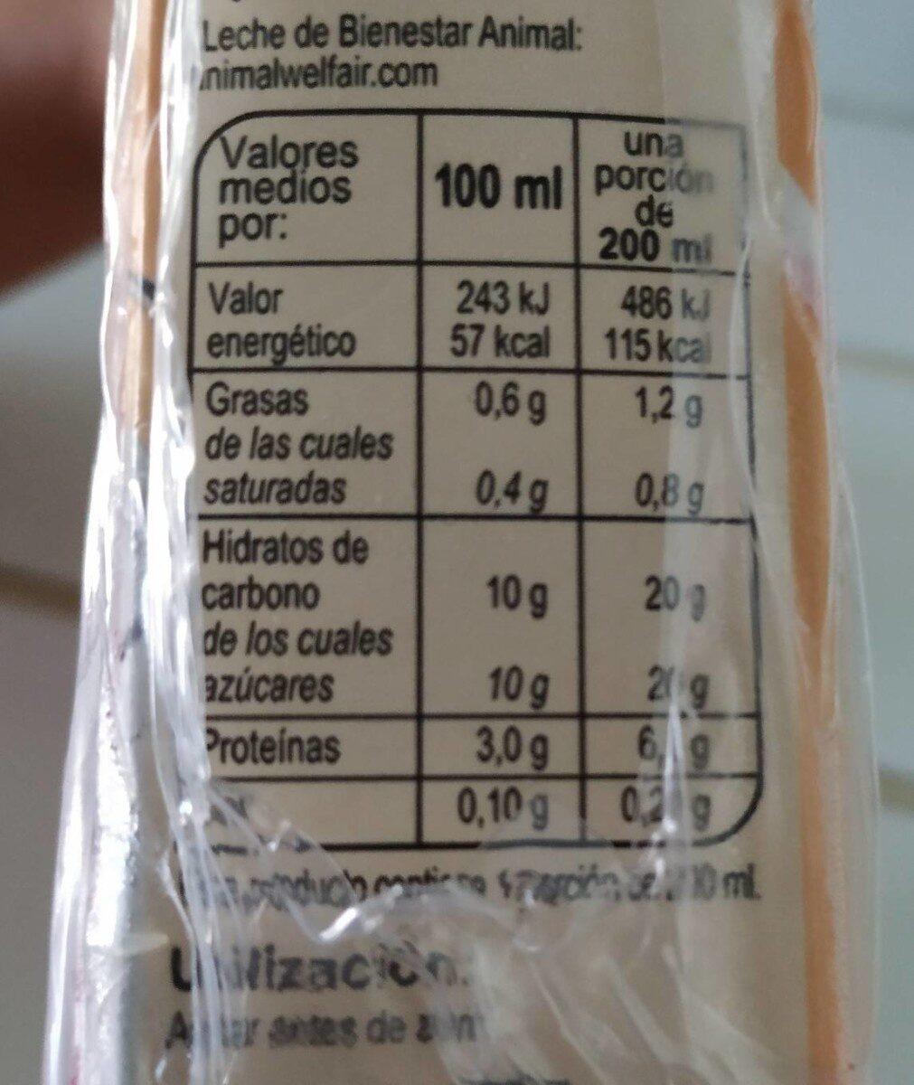 Barido de Vainilla - Informations nutritionnelles - es