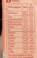 Bebida de almendra calcio sin azúcares añadidos - Informations nutritionnelles - es