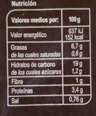 Tortilla Veggie - Informations nutritionnelles - es