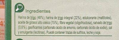 Digestive 0% azúcares añadidos - Ingrédients - es