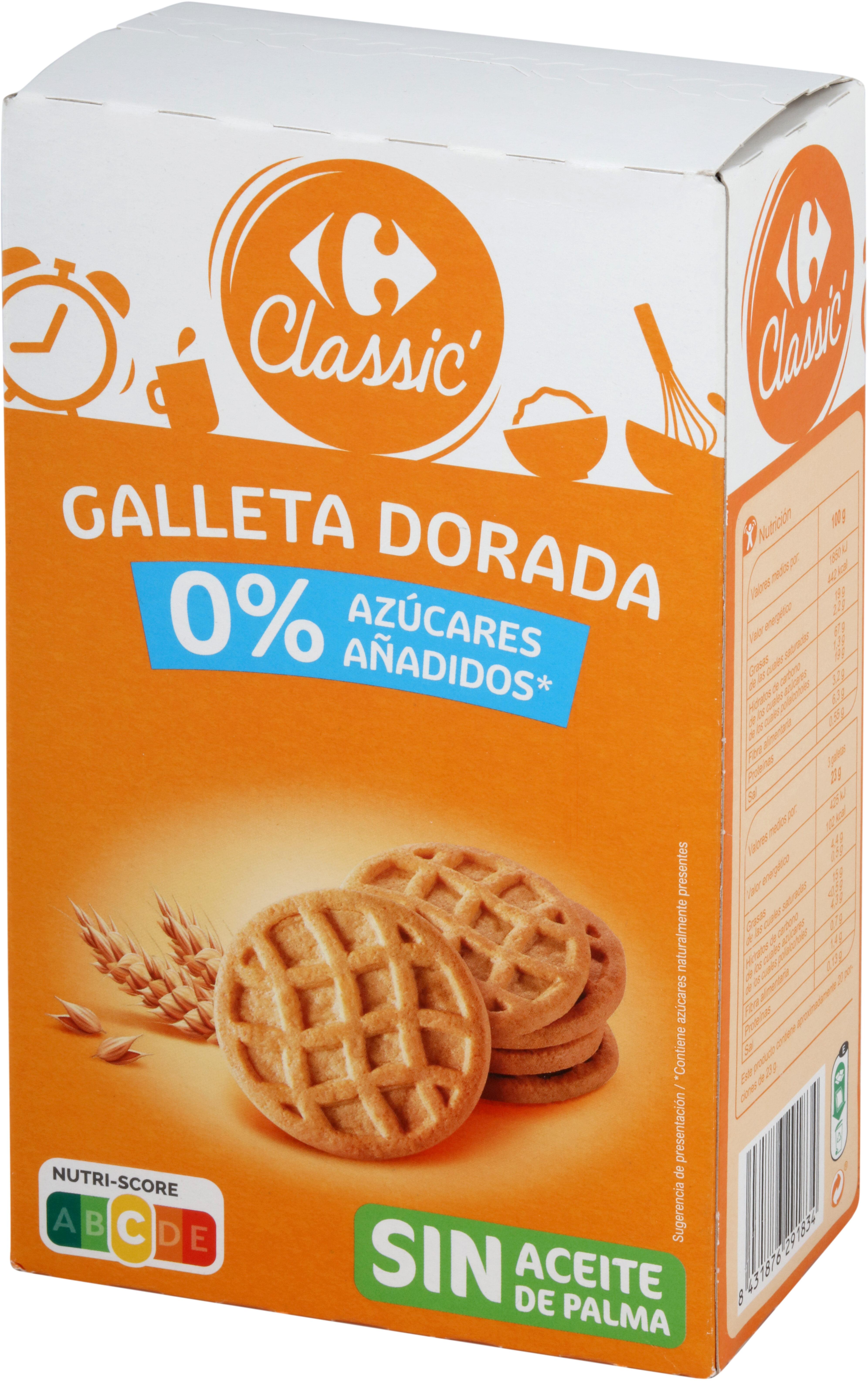 Galleta Dorada 0% Azúcares Añadidos - Product - es