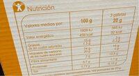 Galleta maría - Nutrition facts - es