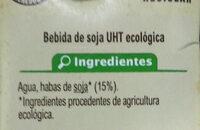 Bebida de soja sin azúcares añadidos - Ingredienti - es