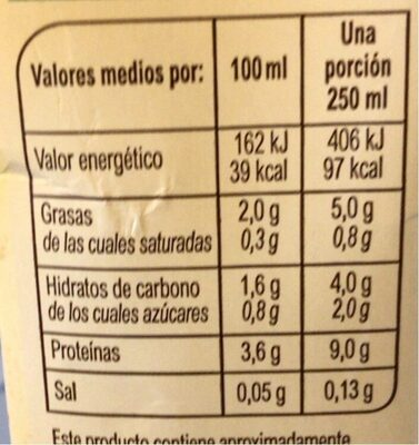 Bebida de soja sin azúcares añadidos - Valori nutrizionali - es