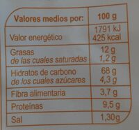 Panecillos tostados con semillaa y cereales - Nutrition facts - es