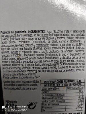 Roscon de reyes - Ingredients - es