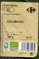 Calabacines - Ingredientes
