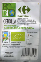 "Cebollas ecológicas ""Carrefour Bio"" - Ingredientes"