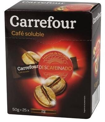 Café soluble descafeinado - Producto