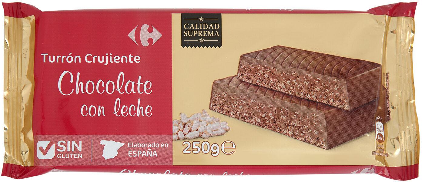 Turrón de chocolate crujiente con leche - Product - es