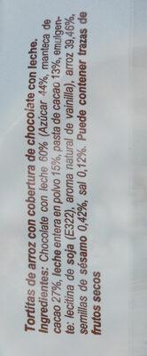Tortitas de arroz de chocolate - Ingredients - es