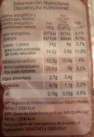 Tortitas de arroz de chocolate - Nutrition facts - es