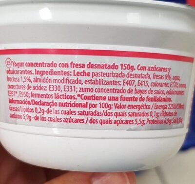 SKYR - Información nutricional