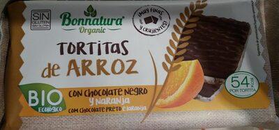 Tortitas de arroz con chocolate negro y naranja - Product - en