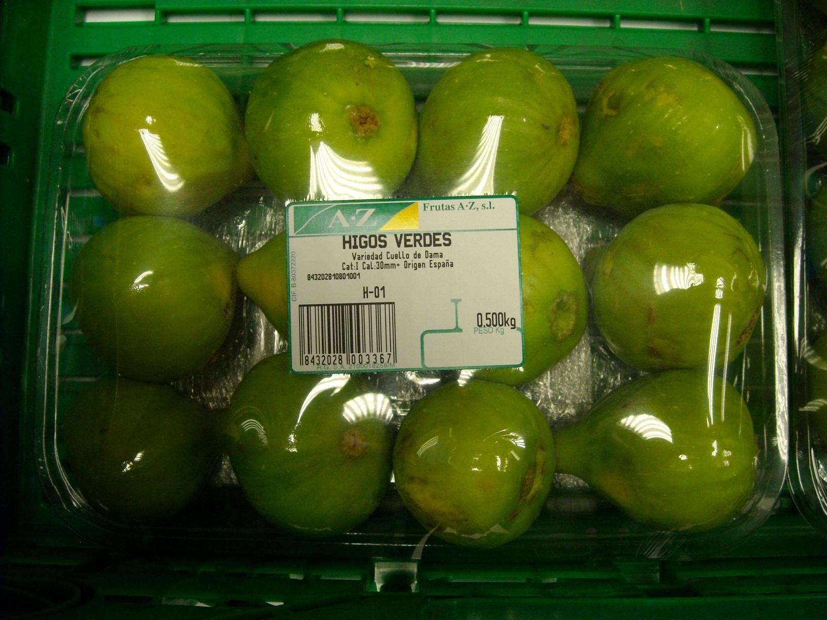 """Higos """"Frutas Calatayud"""" - Voedingswaarden - es"""