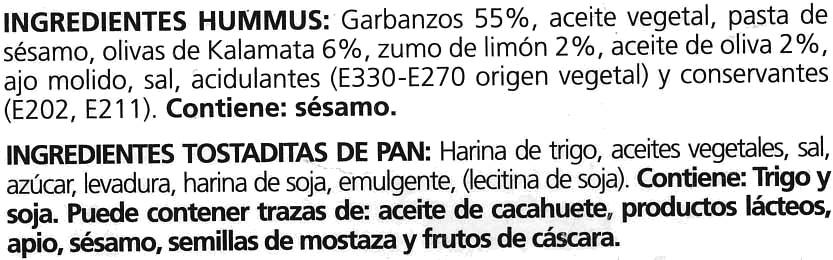 Hummus - Ingrediënten