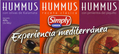 Hummus Pack 3 sabores - Produit