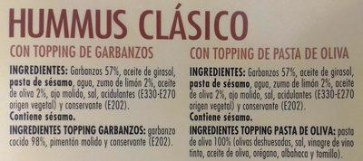 Hummus clásico plus - Ingredientes - es
