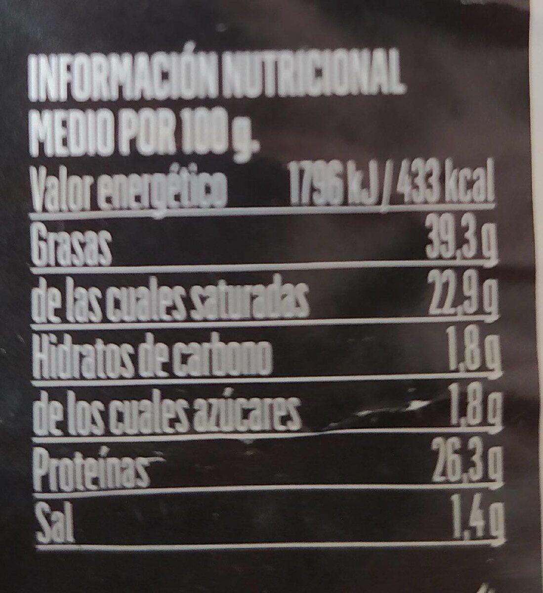 Queso mezcla semicurado - Nutrition facts - es