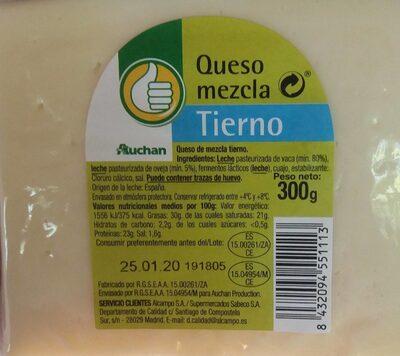 Queso mezcla Tierno - Producto