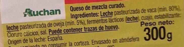 Queso mezcla curado - Ingredients - es