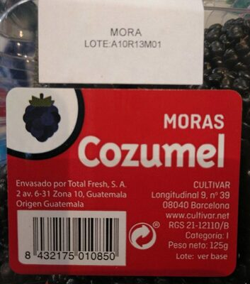 Moras cuzumel - Voedingswaarden