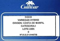 Coco - Ingrédients - es