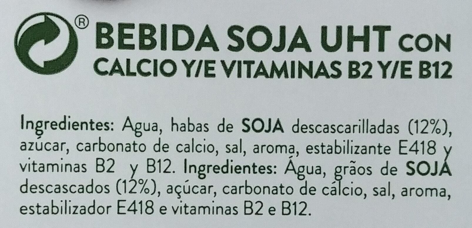 Soja vit - Ingrediënten - es