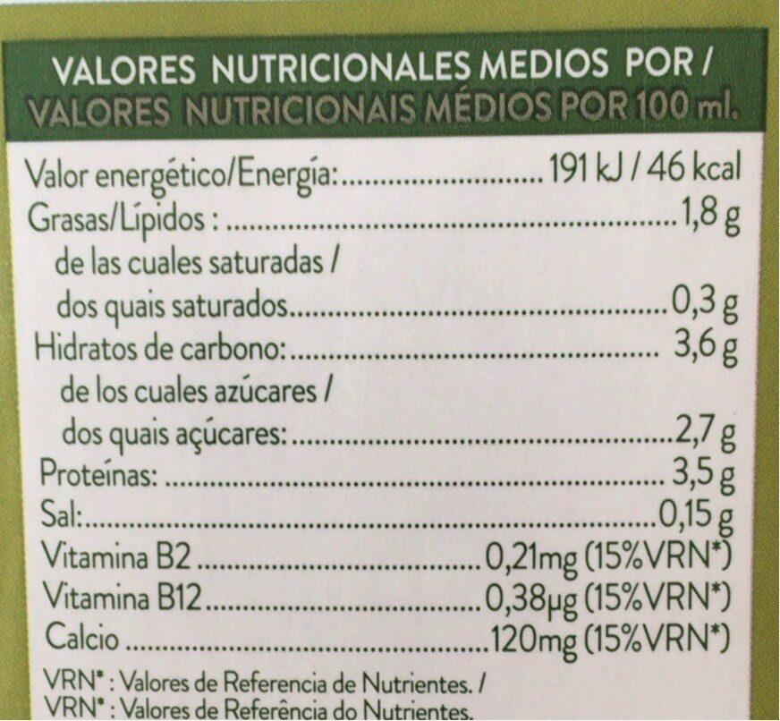 Soja vit - Voedingswaarden - es