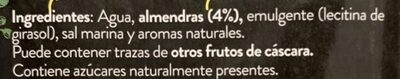 Vegetal de Almendra - Ingredients - es
