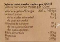 Kaiku Begetal Avena - Información nutricional