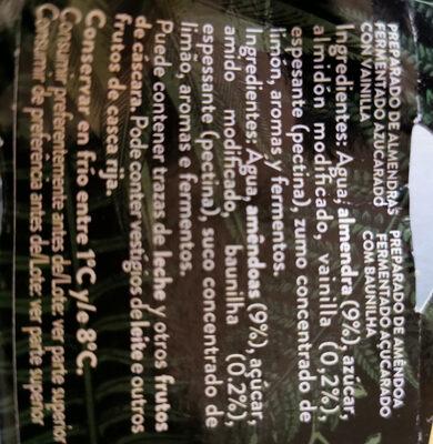 Begetal de almendra con vainilla - Ingredientes - es