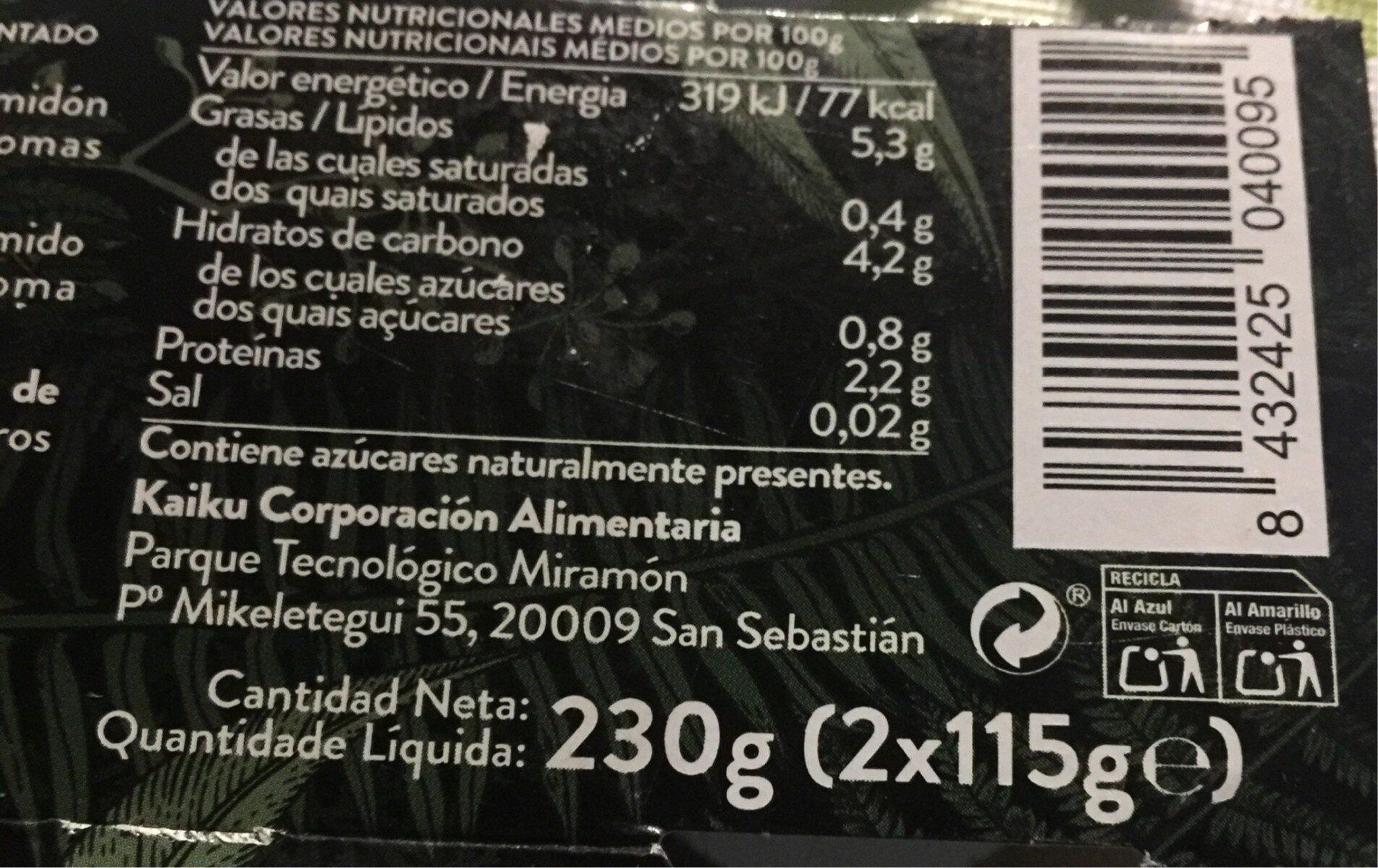 Begetal de almendra natural sin azucares - Producte