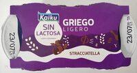 Sin lactosa griego ligero stracciatella - Producto - es