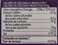 Sin lactosa griego ligero stracciatella - Información nutricional - es