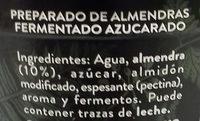 Begetal de Almendra Natural - Ingredientes