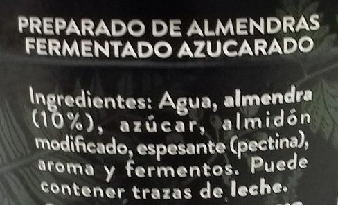 Begetal de Almendra Natural - Ingredientes - es