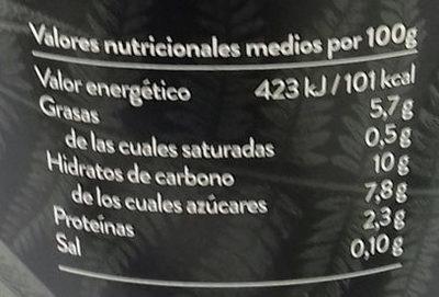 Begetal de Almendra Natural - Información nutricional - es